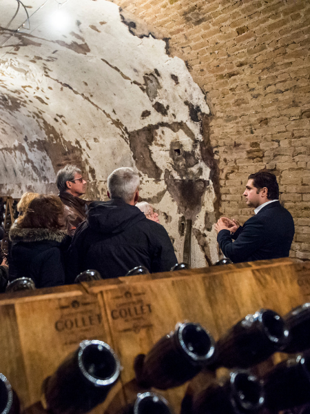 Guided tour of the century-old cellars